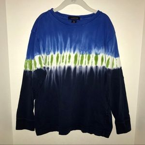 Lands' End tie-dyed, long sleeve t-shirt